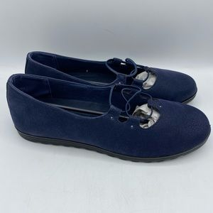 Easy Motion By Easy Street Effie Navy Flats